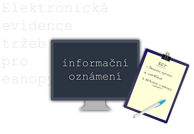 Blog - EET informační oznámení